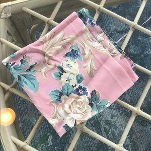 Vintage 100% silk scarf flowers ECHO